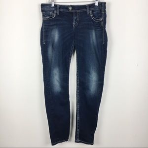 Silver Jeans Tuesday Skinny Distressed Jeans 32